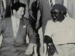 カウプの学校-柴田中尉とソマレ首相
